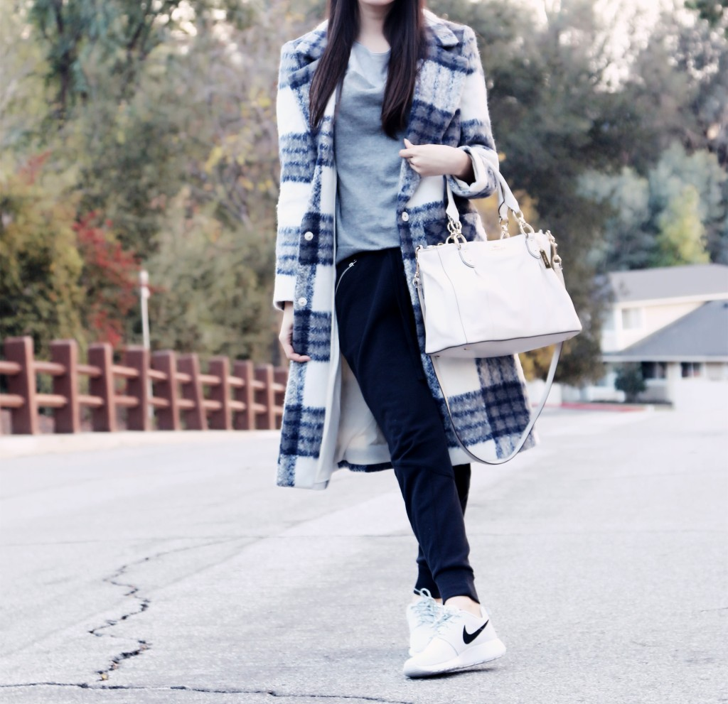 8687_Chic_Forever21_Plaid_Coat_Androgynous_Joggers