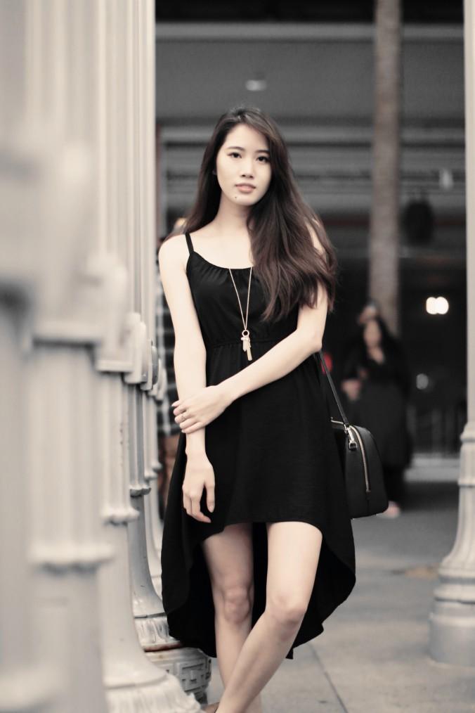9153-LACMA-Urban-Lights-High-Low-Black-Dress