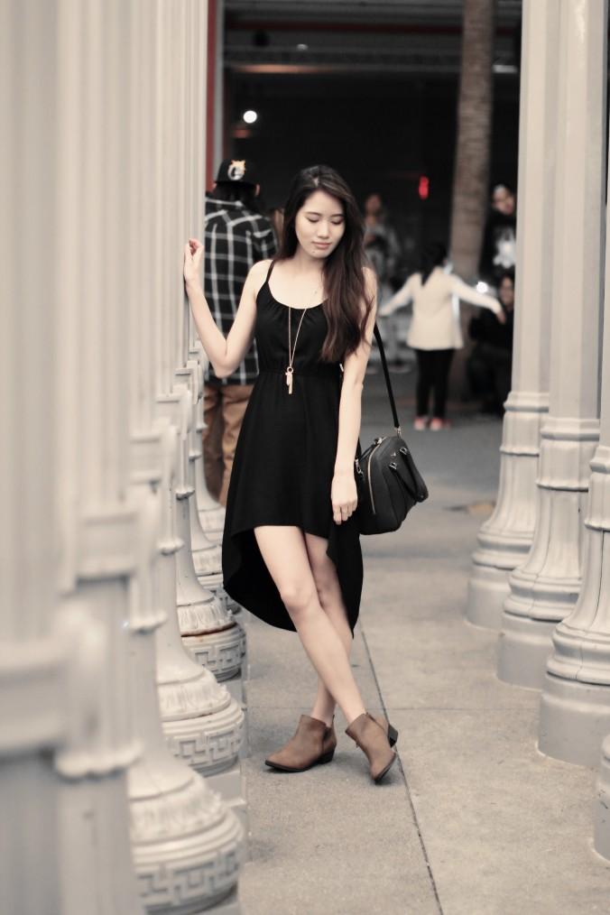 9156-LACMA-Urban-Lights-High-Low-Black-Dress